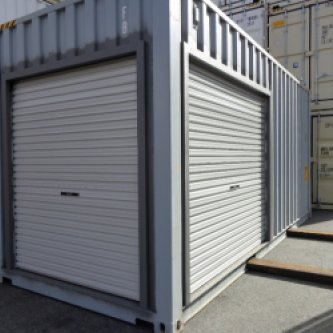 Modified 20' High Cube with Roller Doors