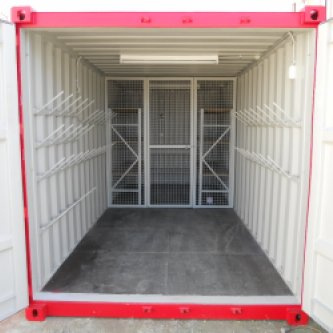 Open and secured storage area