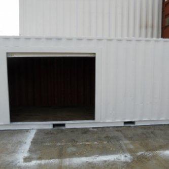 with roller door open