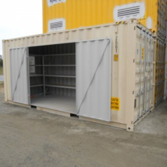 20' Open Side Storage & Workshop Container