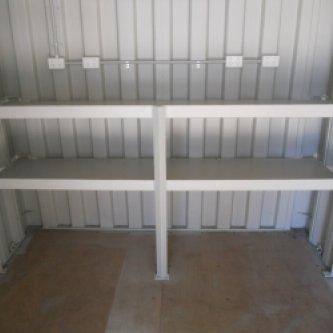 View of rear 2 tier Shelving / Workbench