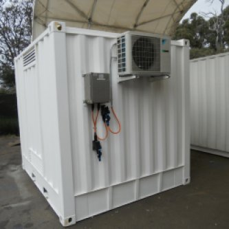 10 foot insulated dangerous goods container - rear aircon