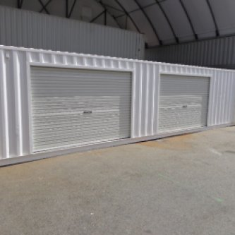 Partitioned Storage Section with Roller Doors