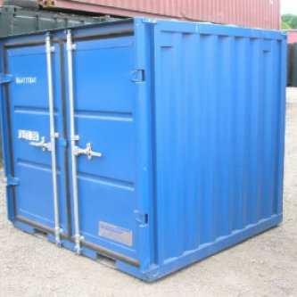 Small 6ft Container, Blue, Doors Closed