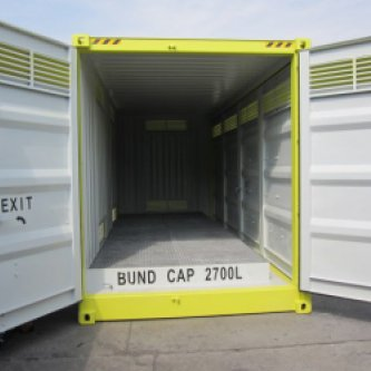 Bund capacity of 2800L