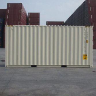 20' High Cube Container Side View