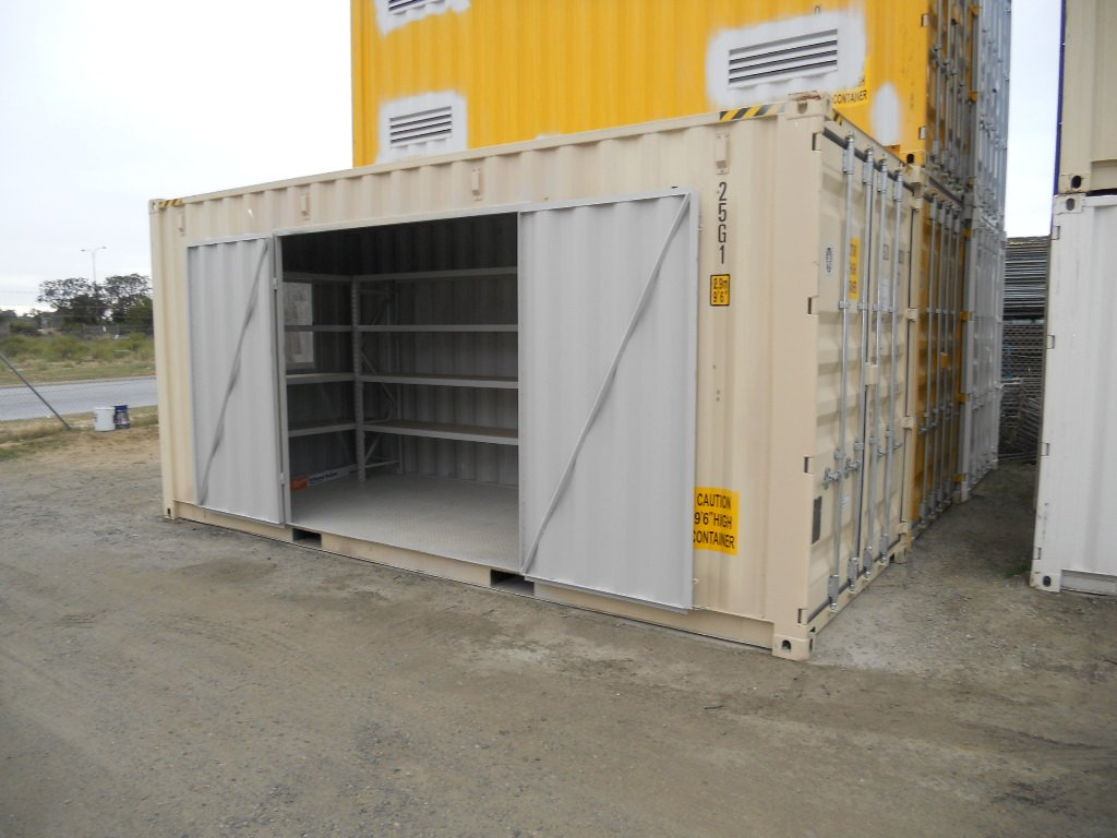20ft Open Side Storage Container Workshop ABC Containers Perth