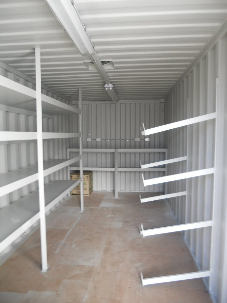 20ft General Purpose Container With Shelving Amp Racks Abc