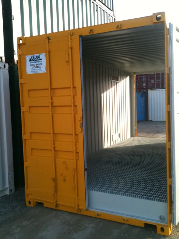 20ft pallet wide high cube dangerous goods container with double end doors abc containers perth - Shipping container end welding ...
