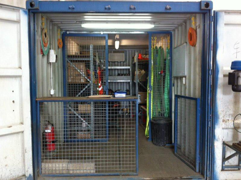 Home » 20ft Equipment Storage Container. Two separate sections for security purposes & 20-foot Equipment Storage Container - ABC Containers Perth WA