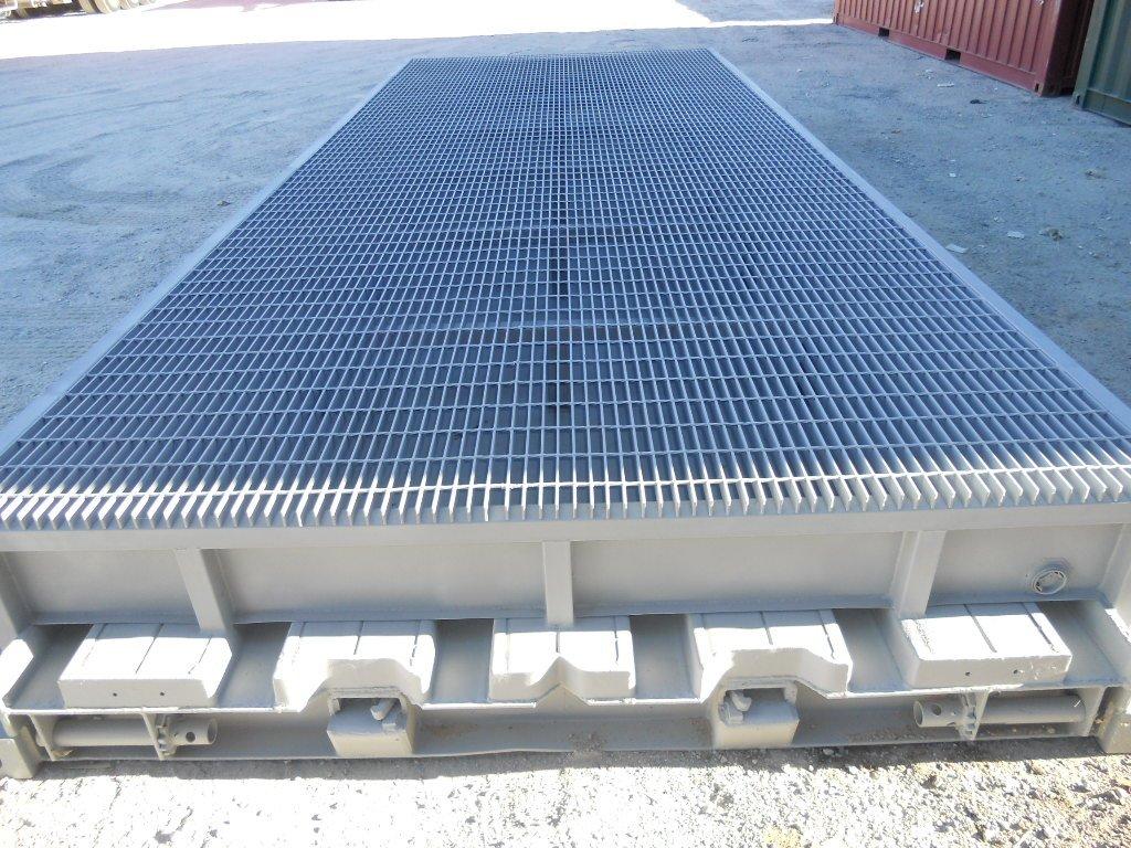 Custom platform container with bund