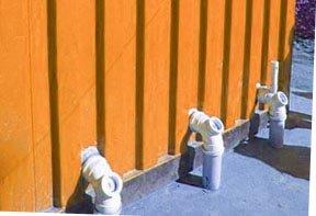 Plumbing for ablution blocks
