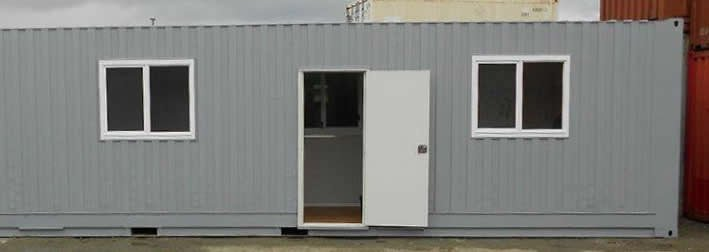 40' Container with 2 windows