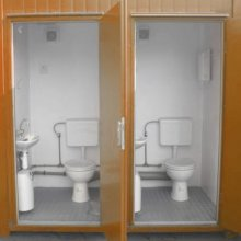 Twin ablution blocks