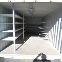 front view of pipe racks & shelving