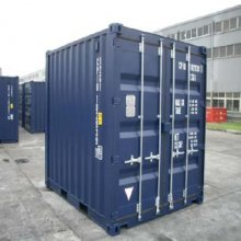 Brand new 10' shipping container - front side view