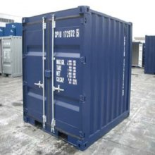 8 foot container side on view